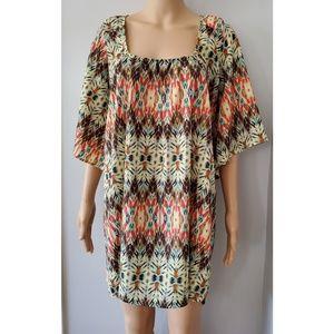Tiff By TT Multicolor Print Dress Size XS